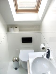 loft conversions Loft Conversion Ensuite with Velux Rooflight in Cannock Loft, Loft Conversion, Attic Renovation, Loft Bathroom, Roof Window, Small Toilet Room, Loft Spaces, Ensuite Shower Room, Attic Shower