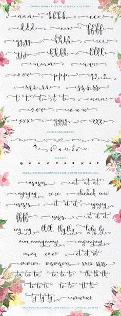 Butterfly Waltz Calligraphy Script with swashes and swirls Calligraphy Alphabet, Calligraphy Fonts, Modern Calligraphy, Calligraphy Practice, How To Write Calligraphy, Doodle Lettering, Brush Lettering, Lettering Styles, Handwriting Analysis