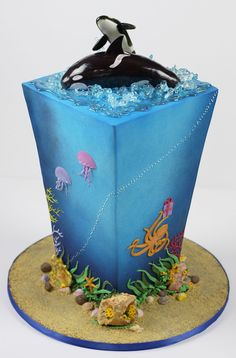 Orcas In Puget Sound Charity cake for Baby Orcas Birthday Bash, held on June 5 in Seattle, Wa. Four-tier cake, inspired by a design of...