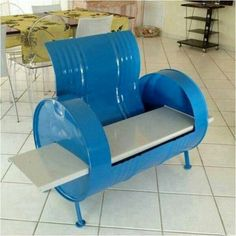 Barrel chair...not something I would like but a cool idea anyway! Maybe for a man's cave or garage?