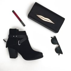 Even bad girls need basics. These classics have devil in the detail embellishments that elevate. Styles shown LILLA boot 6154645 & @jessica_mcclintock_bags 5102661. #blackbooties #badgirl #coolclutch #style
