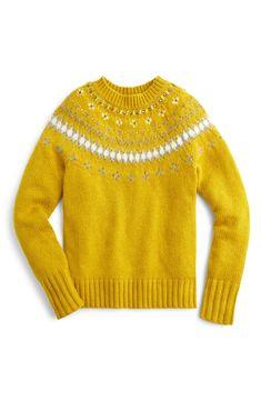 2c117b07cc9 J.Crew Jewel Embellished Fair Isle Sweater (Regular   Plus Size)