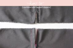 centered and lapped zippers tutorials from Megan Nielsen