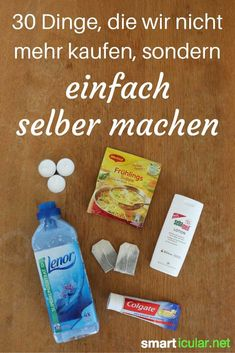 30 Dinge, die wir nicht mehr kaufen, sondern nur noch selber machen Healthier, cheaper, more environmentally friendly - or just better! You should try these homemade alternatives before you buy them a House Cleaning Tips, Diy Cleaning Products, Cleaning Hacks, E Cosmetics, Belleza Diy, Diy Hacks, Zero Waste, Better Life, Clean House