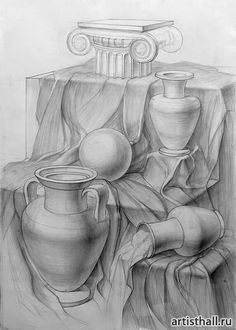 Рисунок Pencil Sketch Drawing, Pencil Art Drawings, Easy Drawings, Art Sketches, Still Life Sketch, Still Life Drawing, Observational Drawing, Object Drawing, Drawing Techniques