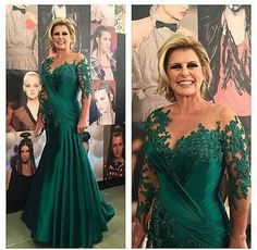 Dark Green Mermaid Mother Of The Bride Dresses Illusion Long Sleeve Appliques Satin Ruched Plus Size Evening Dresses Mother Brides Dresses Groom Mothers Dresses Mother Dress In Wedding From Alexiabridal, $144.73| Dhgate.Com