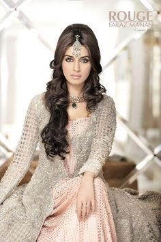 Latest bridal Party Dresses & Jewelry Collection 2013 By Faraz Manan Fashion Dresses for Women Fashion By best Pakistani Fashion Designer Pakistani Couture, Pakistani Bridal, Pakistani Outfits, Indian Outfits, Pakistani Makeup, Pakistani Girl, Pakistani Actress, Indian Bridal Makeup, Asian Bridal