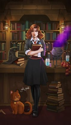 Some of the best fan art of Hermione, and the unique way each artist see and draws her. Arte Do Harry Potter, Harry Potter Artwork, Harry Potter Drawings, Harry Potter Anime, Harry Potter Wallpaper, Harry Potter Universal, Harry Potter Characters, Severus Hermione, Harry Potter Hermione
