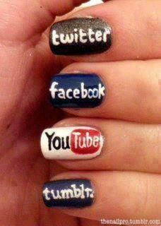 Check out my friends' mani-pedi about Social Media Manicure E Pedicure, Mani Pedi, Cute Nails, Pretty Nails, Hair And Nails, My Nails, Nail Art Designs, Nagel Hacks, Nail Pictures