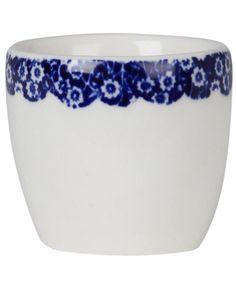 Calico Blue Border Egg Cup, Burleigh. Shop the Burleigh Collection at Liberty.co.uk