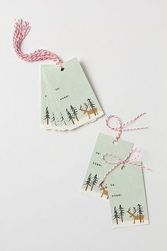 Anthropologie:: Rudoph Gift Tags by Rifle Paper Co.