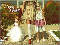 Little Star dresses by Yulia Ko for Sims 3