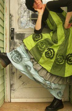 Swirly Bottom Dress by sarahclemensclothing on Etsy, $149.00