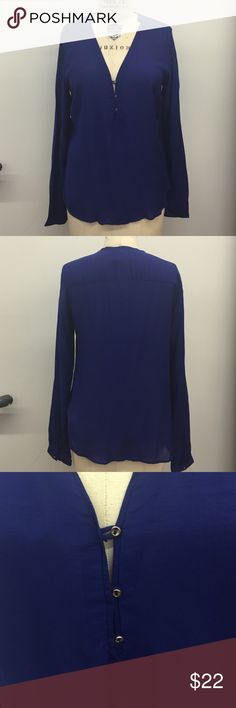 ZARA Royal Blue Blouse Zara Royal blue blouse with tiny gold buttons as an accent! Bundle up to save! NWT. Bundle up to save. Zara Tops Blouses