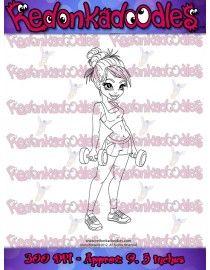 Fitness Girl - Digital Stamp