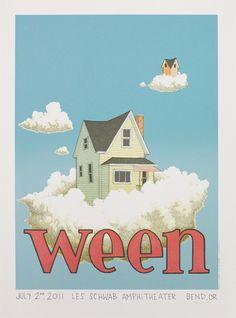 Show artist: Ween   Poster designer: Justin Santora