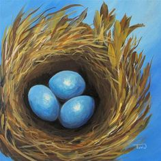 """Robin's Three Eggs IV"" by Torrie  Smiley"