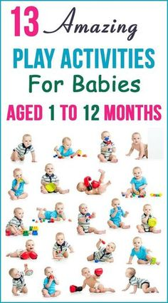 Play Activities For Babies: the following activities will also help enhance your baby's fine motor and logical thinking skills. We have come up with an interesting list of baby activities month by month from the time of birth till 12 months of age. #toddler