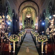 Linda decoração clássica e romântica - Capela Bom Jesus Florianópolis