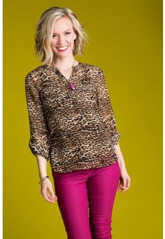 Type 3 Wild Card Animal Outfit. How does this dynamic Type 3 outfit, animal print top and pink pants, inspire you to live your truth and love your life? Get this look at shopdyt.com #DYTisFree #DressingYourTruth #CarolTuttle #Type3 #RichandDynamic