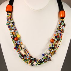 $39.99 African Maasai Mixed Material Bead Necklace by MasaiMarkets