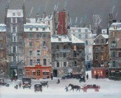 Neige dans le quartier des Halles (2012) by Michel Delacroix