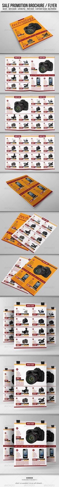Sale Promotion Brochure/Flyer  #GraphicRiver        Features  6 PSD files;    cover, back-cover, page-1, page-2, page-3, page-4    1 Info.txt    Images are not included  Multi-purpose design  6 different design  Very easy to customize    Editable text/colors/images    Well organized layer  Work organized in folders  Resizable to any dimension  Dimensions  21×29.7 cm  300 DPI 0.5 cm bleed   CMYK Colors    Free Fonts Bebas Neue  PT Serif  PT Sans  Pattern Author:  .thevectorart  Used under…