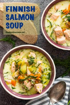 locally as 'Lohikeitto', Finnish Salmon Soup is deliciously creamy and easy to prepare. Great as an appetizer or as a light meal, this hearty fish soup will surely warm you up! Soup Recipes, Cooking Recipes, Healthy Recipes, Cooking Fish, Salmon Soup, Salmon Stew Recipe, Clean Eating Snacks, Healthy Eating, Nordic Diet