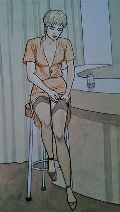 Renaud - Originele tekening in kleur - Jessica Blandy - W.B.