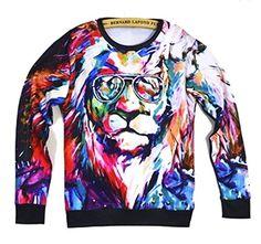Unisex Hipster Novelty Sweater Lion King Glasses Sweatshirt Hoodies T Shirts (M) SunRise http://www.amazon.com/dp/B00LQNFOJM/ref=cm_sw_r_pi_dp_GB8uub06H4DHH