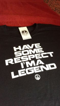 Respect Legend Tshirt by Zombielyfe Design Company. 100% ring spun cotton material. Back of the shirt is hand signed by the designer just under the neckline. White plastisol ink. comes in sizes (Sm-3xl) also comes in a black tank top. www.zombielyfe.com instagram: kingthesis #zombielyfe
