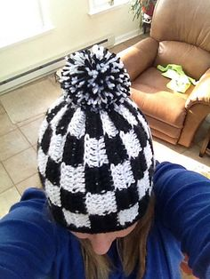 Ravelry: Lisagmad's Checkered Flag NASCAR hat