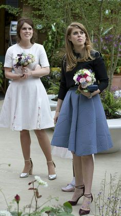 Princesses Eugenie & Beatrice At The Chelsea Flower Show, May 23, 2016.