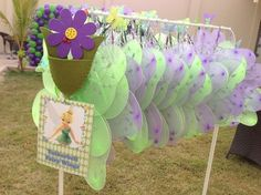 Fairy wings at a Tinkerbell Party #tinkerbell #party