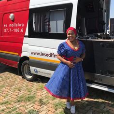 Seshweshwe Dresses, African Wear Dresses, African Outfits, Sepedi Traditional Dresses, White Gowns, African Prints, African Style, Red Fashion, House Plans