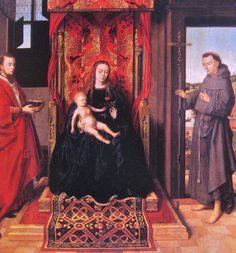Petrus Christus.1457 Virgin and Child.  Frankfurt.