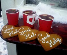 Glögg och pepperkakor @Alexis McCabe my favorite Christmas treat of Sweden :D