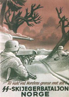 plakat for og rekruter normenn mot tyskeran i andre verdenskrig