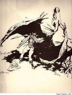 ORCS! Stunning LORD OF THE RINGS ART by Frank Frazetta (1975) via @GeekTyrant News