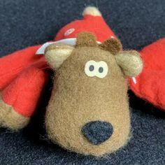 Hallmark Randy Reindeer Vintage 1986 Mini Plush Christmas Sewn Toy 3.5 x 5 inch   eBay Christmas Holidays, Christmas Ornaments, Alexander Dolls, Hallmark Ornaments, Satin Bows, New Toys, Free Items, Doll Toys, Reindeer