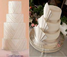 1920's | Gatsby Glam | Art Deco | Wedding | Vintage | Old Hollywood | Wedding Decor & Design | Cake