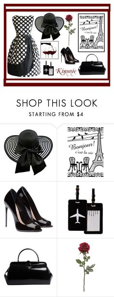 """Bonjour"" by kimmie-plus2 ❤ liked on Polyvore featuring TravelSmith and Prada"