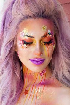 """36 Fairy Unicorn Makeup Ideas For Parties Incredible Unicorn Makeup picture4 See more: """"… - http://makeupaccesory.com/36-fairy-unicorn-makeup-ideas-for-parties-incredible-unicorn-makeup-picture4-see-more/"""
