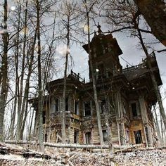 Mansion at the abandoned Ostashevo village, Russia, built by Ivan Ropet, late 19th century