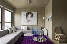 ultra violet pantone 2018 interiors - violet and concrete - brazilian interiors on ITALIANBARK