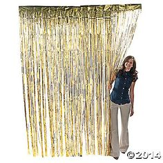 Give your event some extra pizzazz with this metallic gold fringe curtain! Foil fringe curtains make the perfect backdrops at parties or DIY photo booths, are ....
