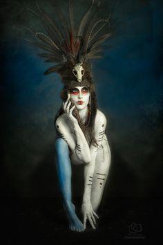 Model: Anoush Anou  Makeup/Body paint: Jacqueline Kalab  Headdress: Amelia Genevieve (Shunyata)  Photographer: Alf Caruana