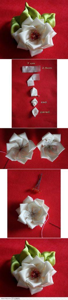 Róża z tasiemki na Stylowi.pl