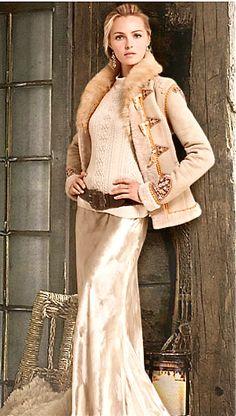 /Ralph Lauren evening skirt/ - полушубок, конечно, мечта! и юбка шикарная, и простой (казалось бы) джемпер прекрасно смотрится