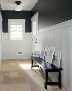 have been debating a navy blue laundry. I like the color contrast here